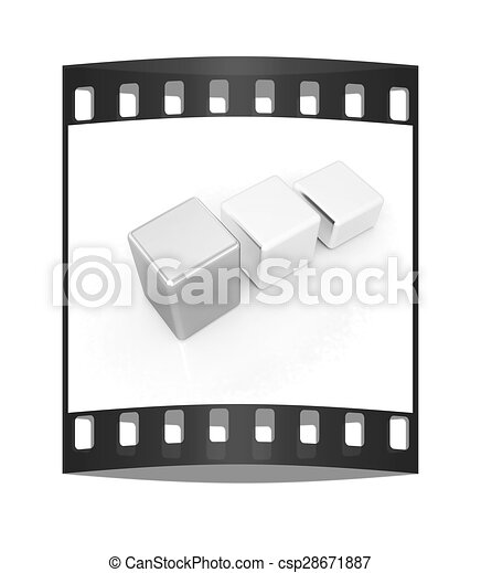 Blocks. The film strip - csp28671887