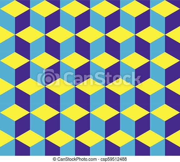 blocos, coloridos, -, seamless, óptico, fundo, ilusão - csp59512488