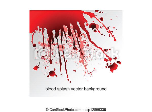 blod, det stänker - csp12859336