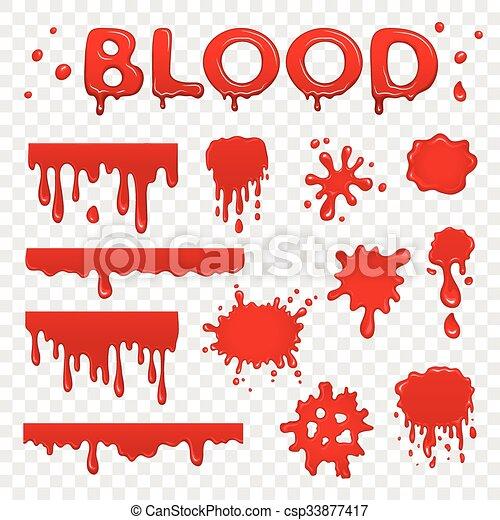 blod, kollektion, splat - csp33877417