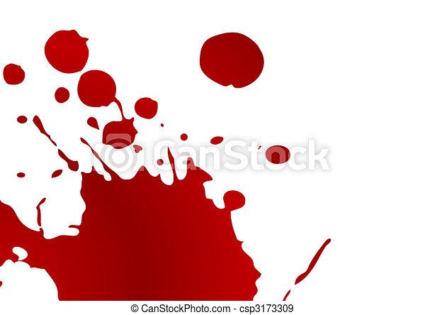 blod, splat - csp3173309