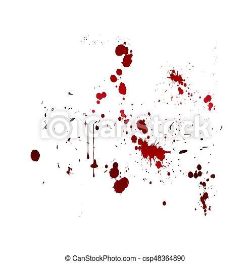 blod, splat - csp48364890