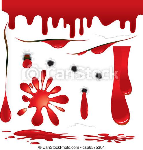 blod, utsmyckningar - csp6575304