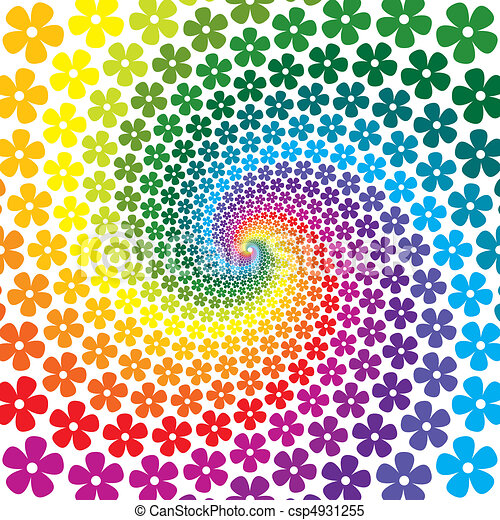 bloem, kleurrijke, spiraal, achtergrond - csp4931255