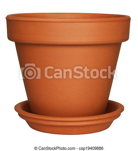 bloem, lege, pot - csp19409886