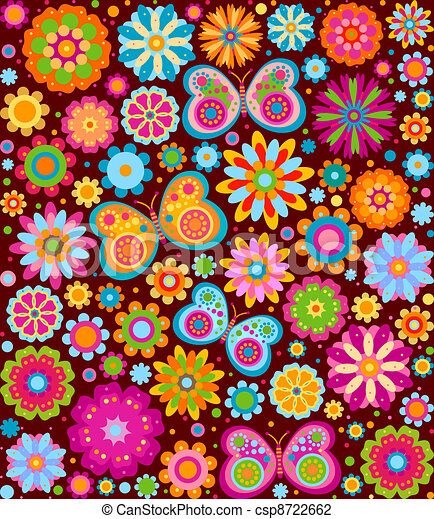 bloemen, achtergrond - csp8722662