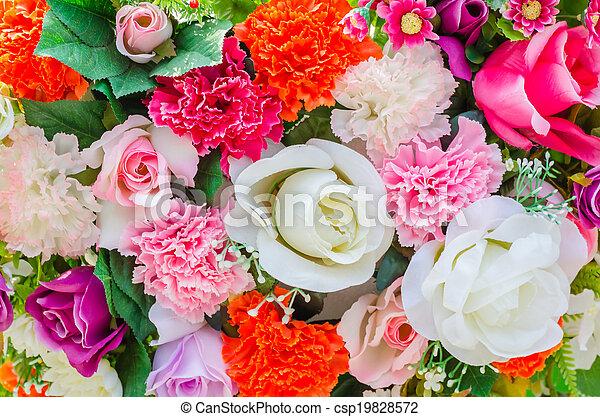 bloemen, achtergrond - csp19828572