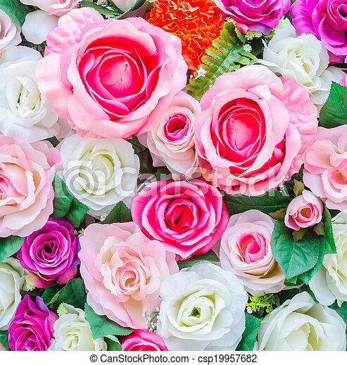 bloemen, achtergrond - csp19957682