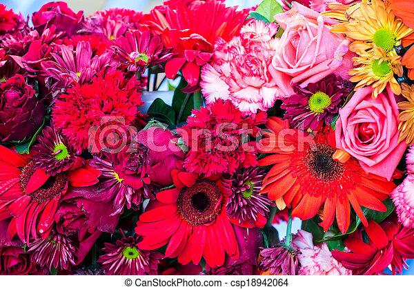 bloemen, achtergrond - csp18942064