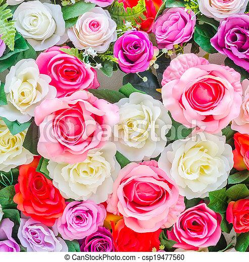 bloemen, achtergrond - csp19477560