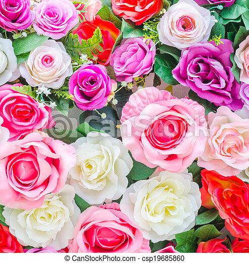 bloemen, achtergrond - csp19685860