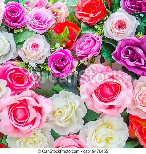 bloemen, achtergrond - csp19476455