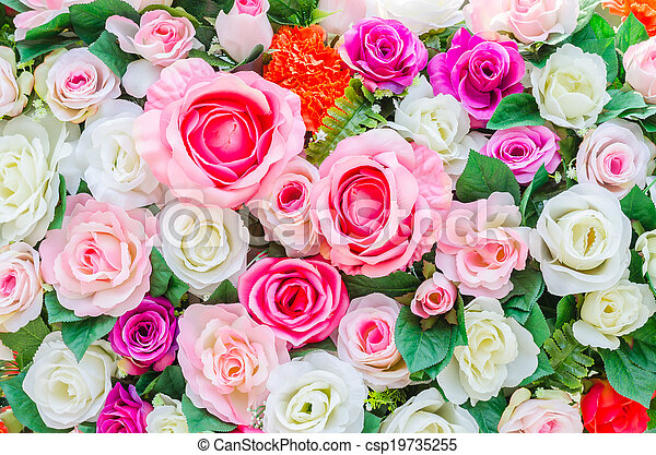 bloemen, achtergrond - csp19735255