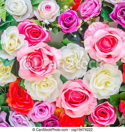 bloemen, achtergrond - csp19474222