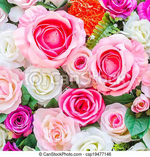 bloemen, achtergrond - csp19477146