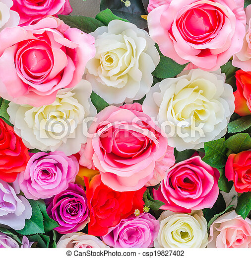 bloemen, achtergrond - csp19827402
