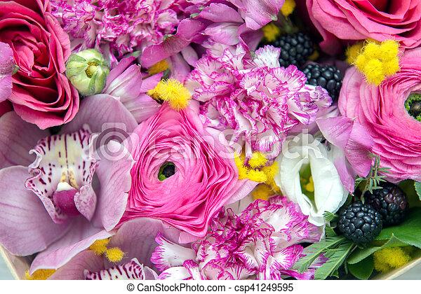 bloemen, achtergrond - csp41249595
