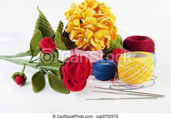 Bloemen Haken Gemaakt Deskundig By Crocheted Handen Bloemen