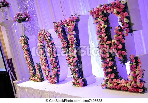 bloemen, trouwfeest - csp7498638