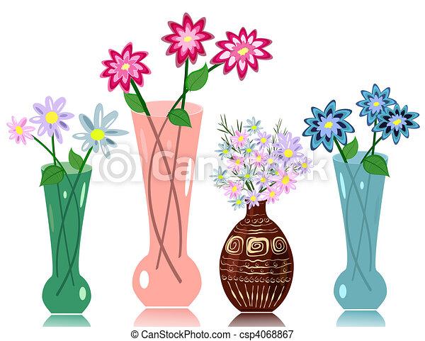 bloemen, vaas - csp4068867