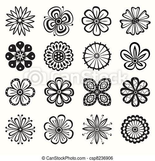 bloemen, verzameling - csp8236906