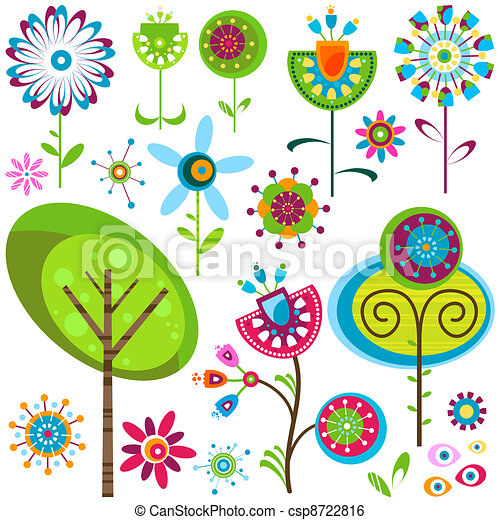 bloemen, whimsy - csp8722816