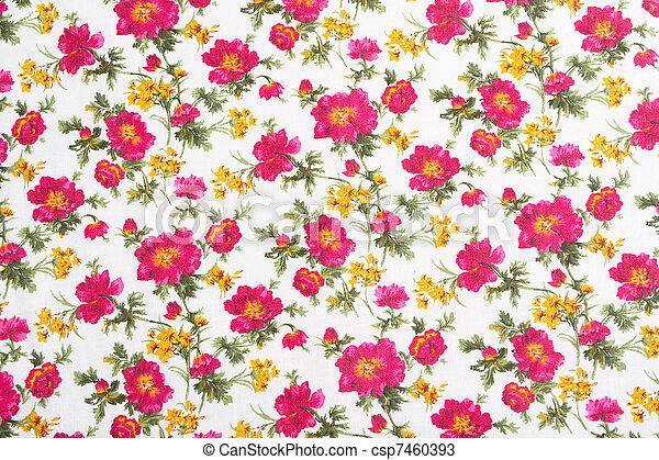 bloempatroon, bouquet., seamless, cloth., floral - csp7460393
