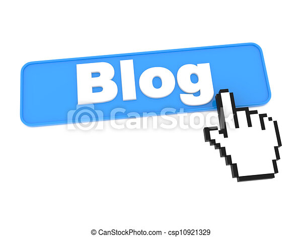 Blog Button. - csp10921329