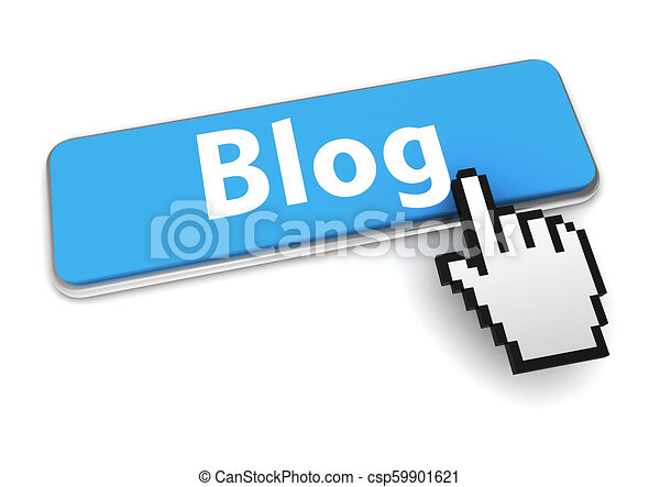 blog button concept 3d illustration - csp59901621