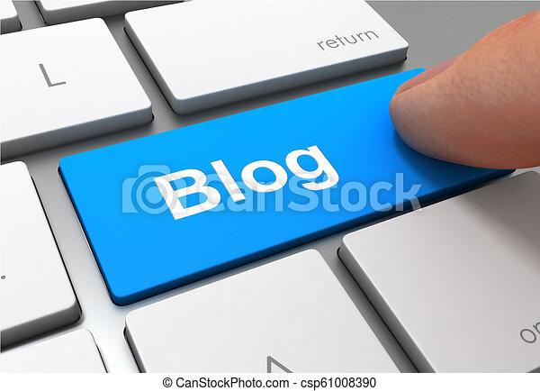 blog button concept 3d illustration - csp61008390