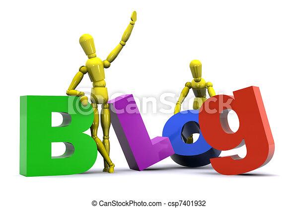 Blog Concept - csp7401932