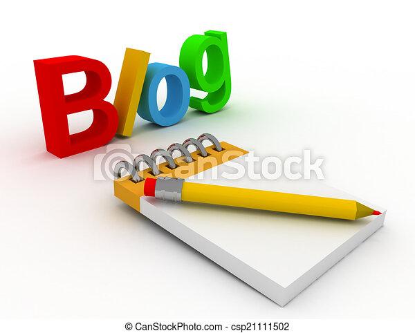 blog concept - csp21111502