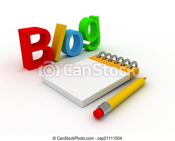 blog concept - csp21111504
