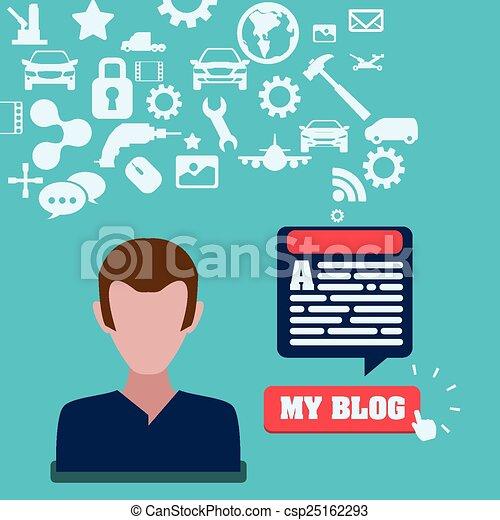 blog concept - csp25162293