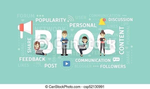 Blog concept illustration. - csp52130991