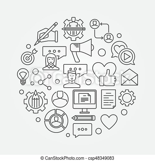 Blog concept illustration - csp48349083
