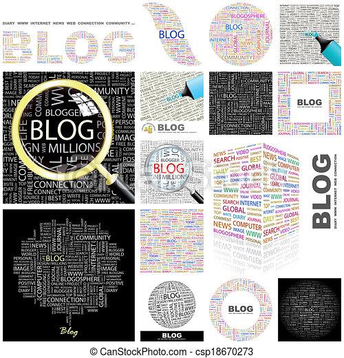 Blog. Concept illustration. - csp18670273