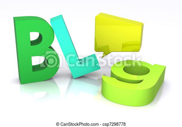Blog Concept - csp7298778