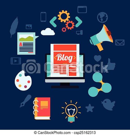 blog concept - csp25162313