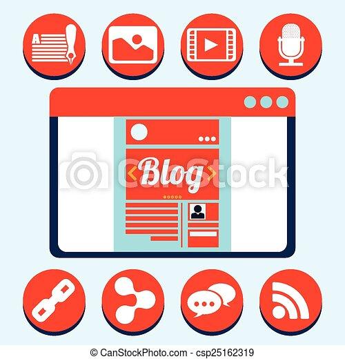 blog concept - csp25162319