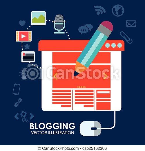 blog concept - csp25162306