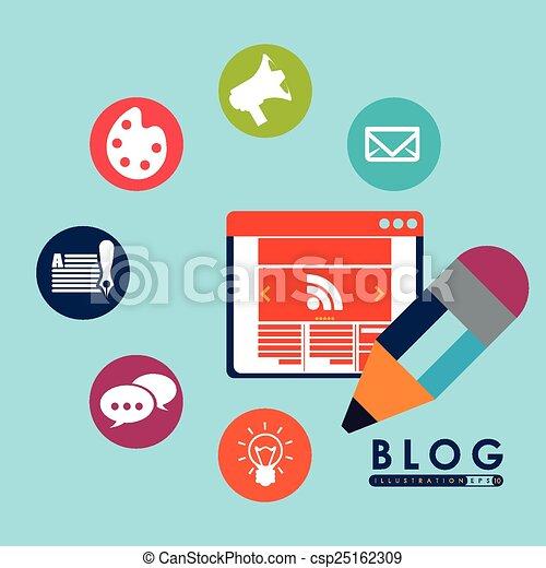 blog concept - csp25162309