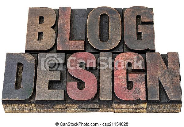 blog design in wood type - csp21154028