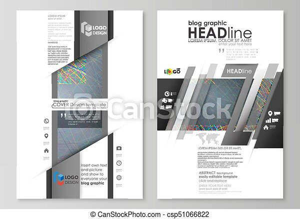 Blog graphic business templates. page website design... vector ...