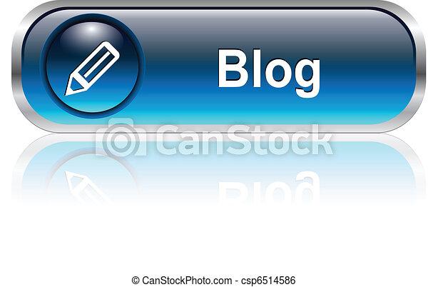 Blog icon, button - csp6514586