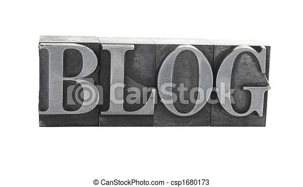 blog in metal type - csp1680173