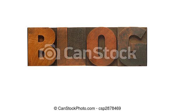 blog in wood type - csp2878469