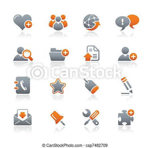 Blog & Internet Icons / Graphite - csp7482709