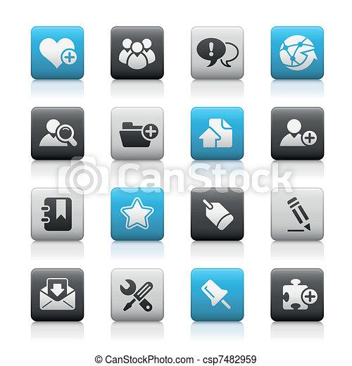 Blog & Internet / Matte Buttons - csp7482959