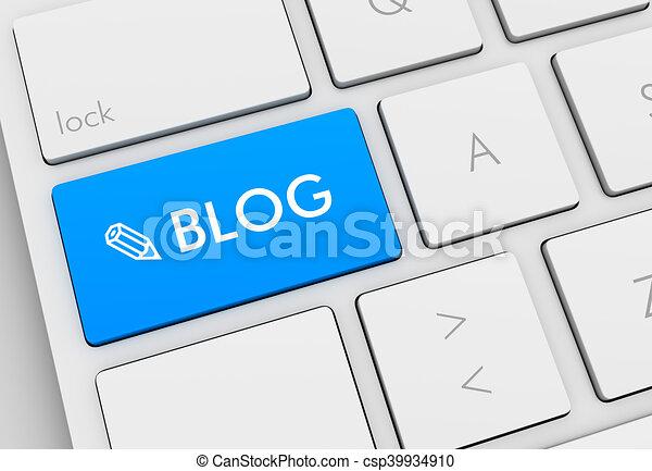 blog keyboard concept illustration - csp39934910